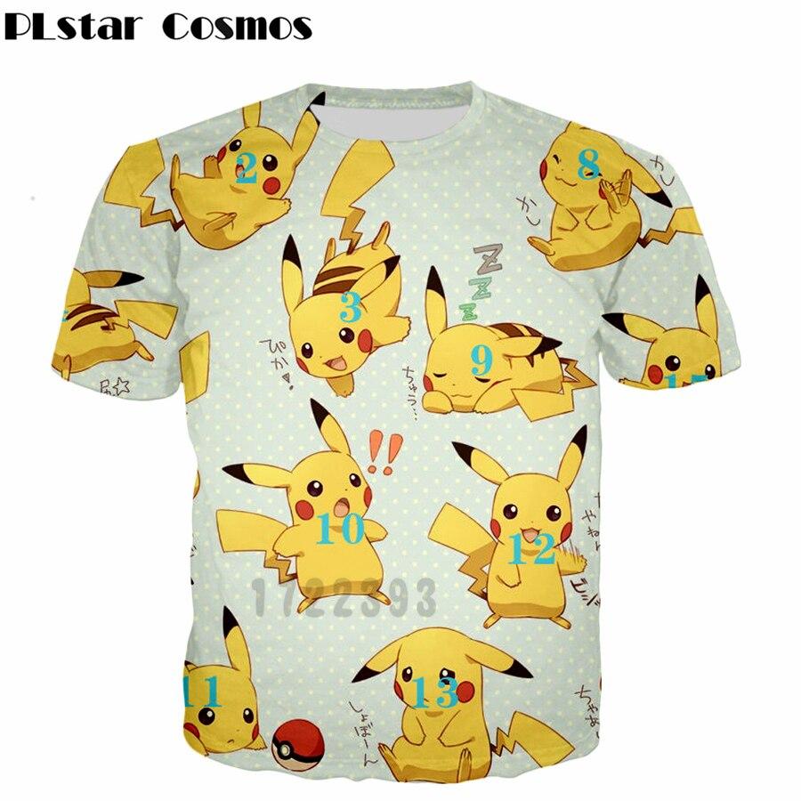 d993c0d0 PLstar Cosmos Pokemon Pikachu T Shirt 2018 Summer Men Women T-Shirt Pikachu  3D Print
