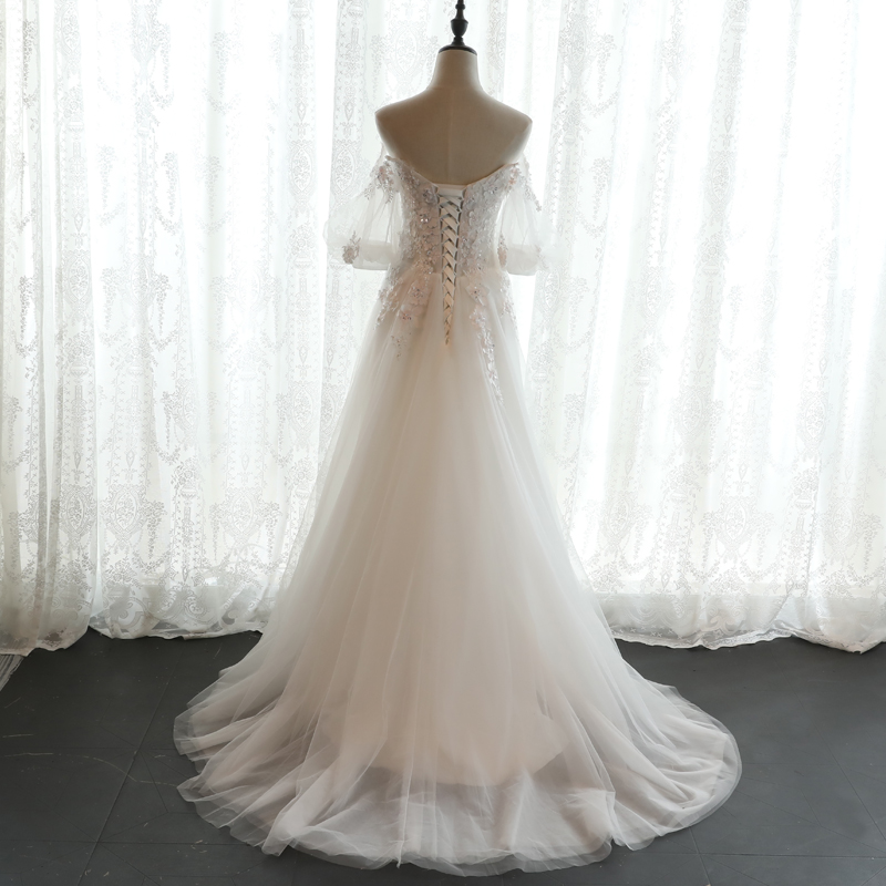boho vintage lace wedding dress 2017bride simple sheap bridal gown ...