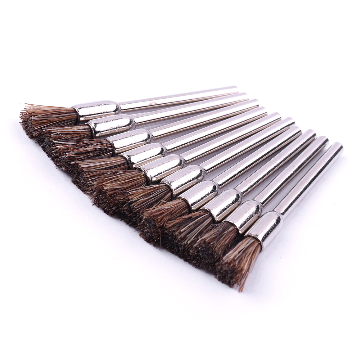 10x CARBON STEEL WIRE BRUSHES for dremel //foredom