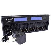 Nc32 12/16 slot display lcd bateria inteligente carregador rápido carregador de proteção múltipla para 5 e 7 carregadores de bateria|Carregadores| |  -