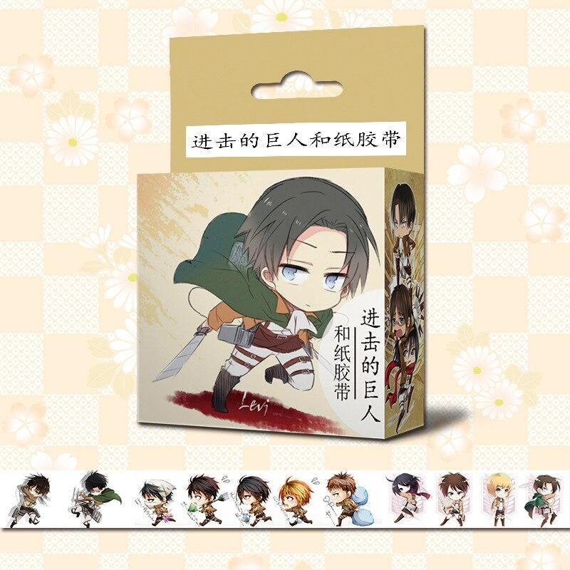 1.5cm*5m Attack On Titan Shingeki No Kyojin Anime Washi Tape Adhesive Tape DIY Scrapbooking Sticker Label Masking Tape