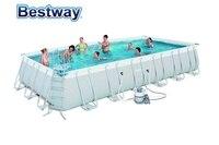 56475 Bestway 732x366x132 см Мощность Сталь прямоугольная рамка бассейн комплект 24'x12'x52 над землей бассейн wz песок фильтр, лестница