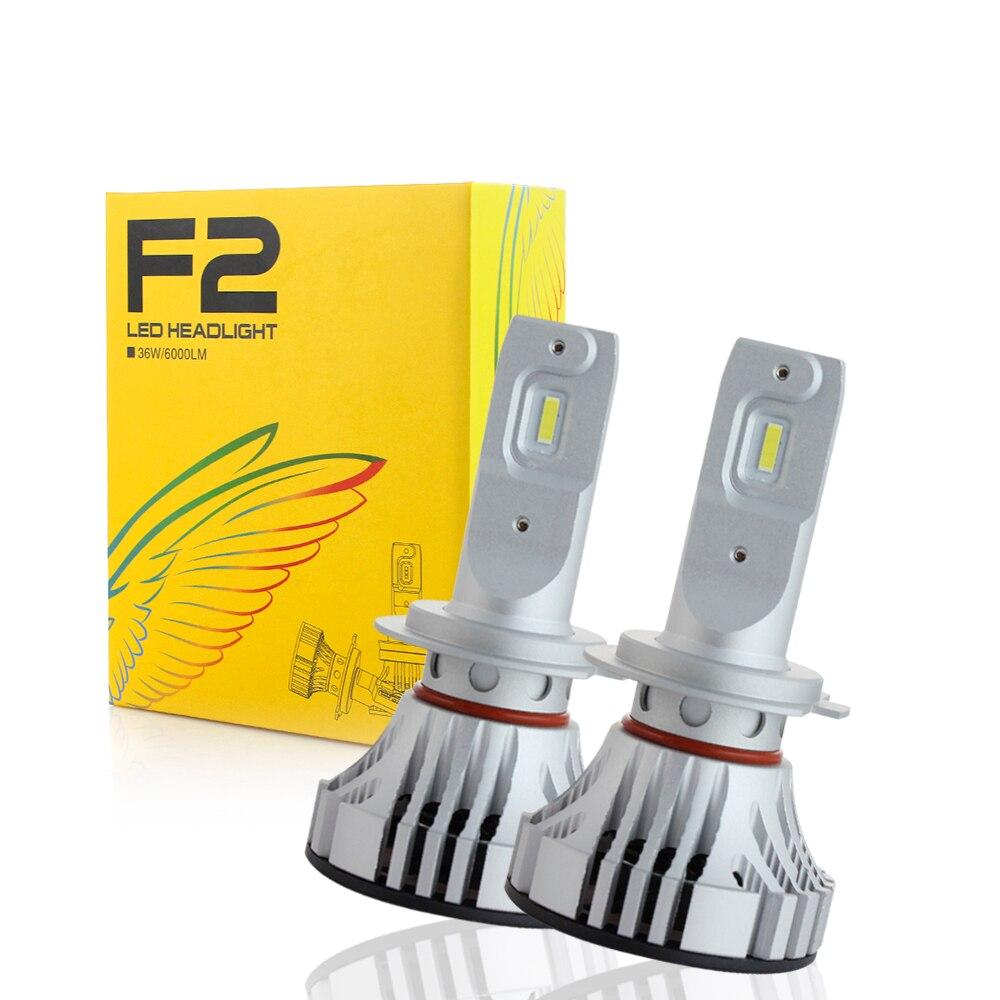 2 pcs LED H7 H11 LED Bulbs H1 H11 H3 9005 9006 HB4 HB3 H10 72W