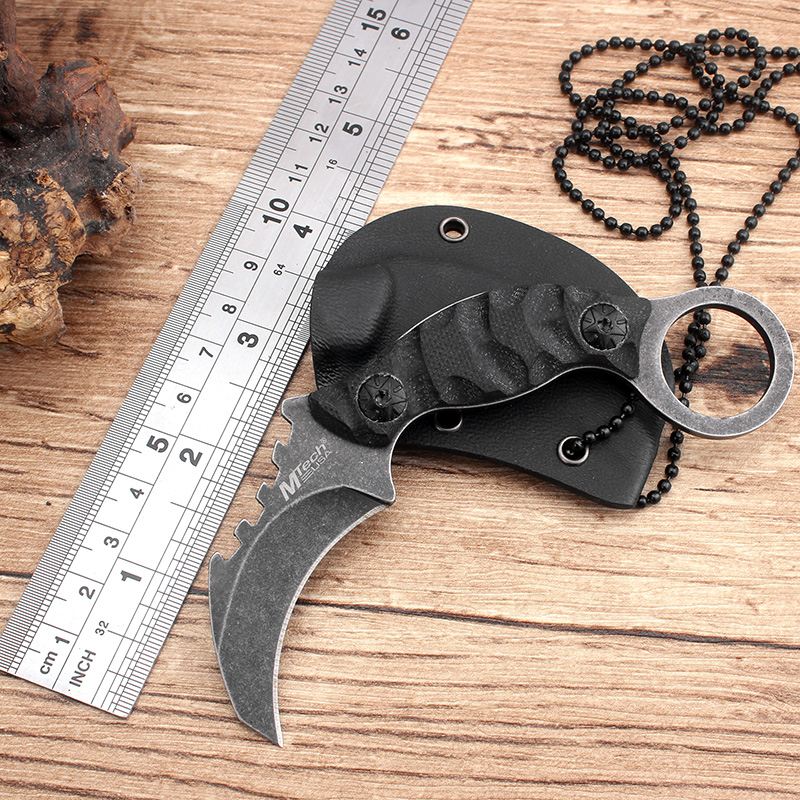 Cool Handmade Hunting Karambit font b Knife b font 58HRC K sheath Counter Strike Fighting Survival