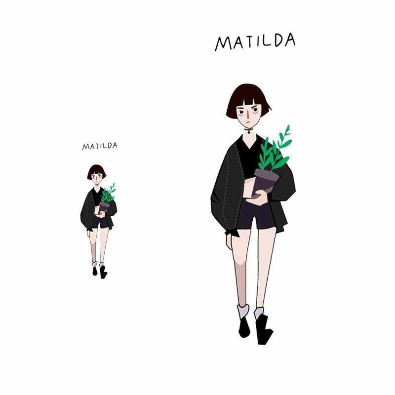 น่ารัก Mathilda ตัวอักษรรีดผ้า Heat Transfer ล้างทำความสะอาดได้แพทช์การพิมพ์แพทช์สำหรับเสื้อผ้า DIY Appliques ขายส่ง