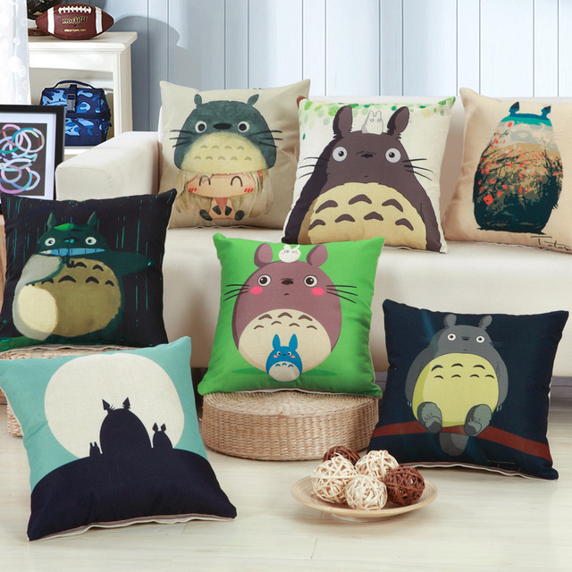 Cuscino decorativo Della Copertura Cute Cartoon Totoro Stampato Tiro Cuscino Cop