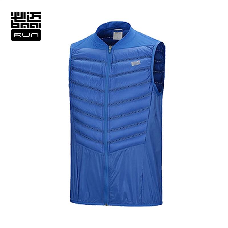 ФОТО BMAI Brand Man Down Running Vest  Ultralight Sleeveless Jacket Running Duck Down Vest Comfortable Down Jacket #LOVERS