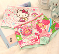 4pcs/lot girl underwear panties boxer hello kitty hot sale children pants kids wholesale high quality underware cartoon mix