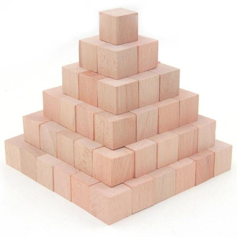 36 pièces/ensemble jeu de briques cubiques en hêtre de haute qualité 4 cm Cubes bricolage blocs de couleur en bois jouets éducatifs pour bébé enfants