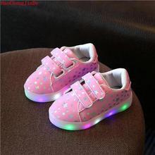 2018 sepatu anak-anak musim gugur baru anak laki-laki dan perempuan warna-warni LED flash anak-anak sepatu kasual LED berkedip sepatu anak-anak non-slip