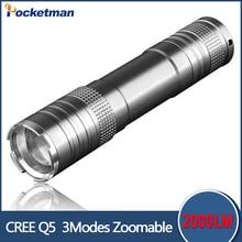 2017 hot sale rushed camp mini led flashlight torch 2000lm cree T6 adjustable focus zoom light lamp Linternas Powerful Lights
