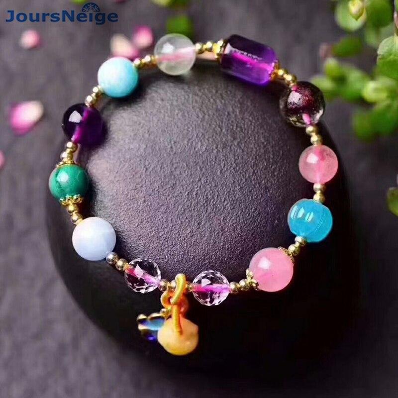 Wholesale Color Natural Crystal Bracelets Wishful Butterfly Help Business Lucky for Women Korean Style Crystal Bracelet Jewelry цены