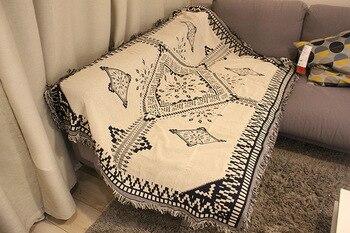 Boemia Del Cotone coperta copertura completa divano copertura antiscivolo divano set di asciugamani copridivano elasticizzato Lavorato A Maglia divano copertura fonda divano