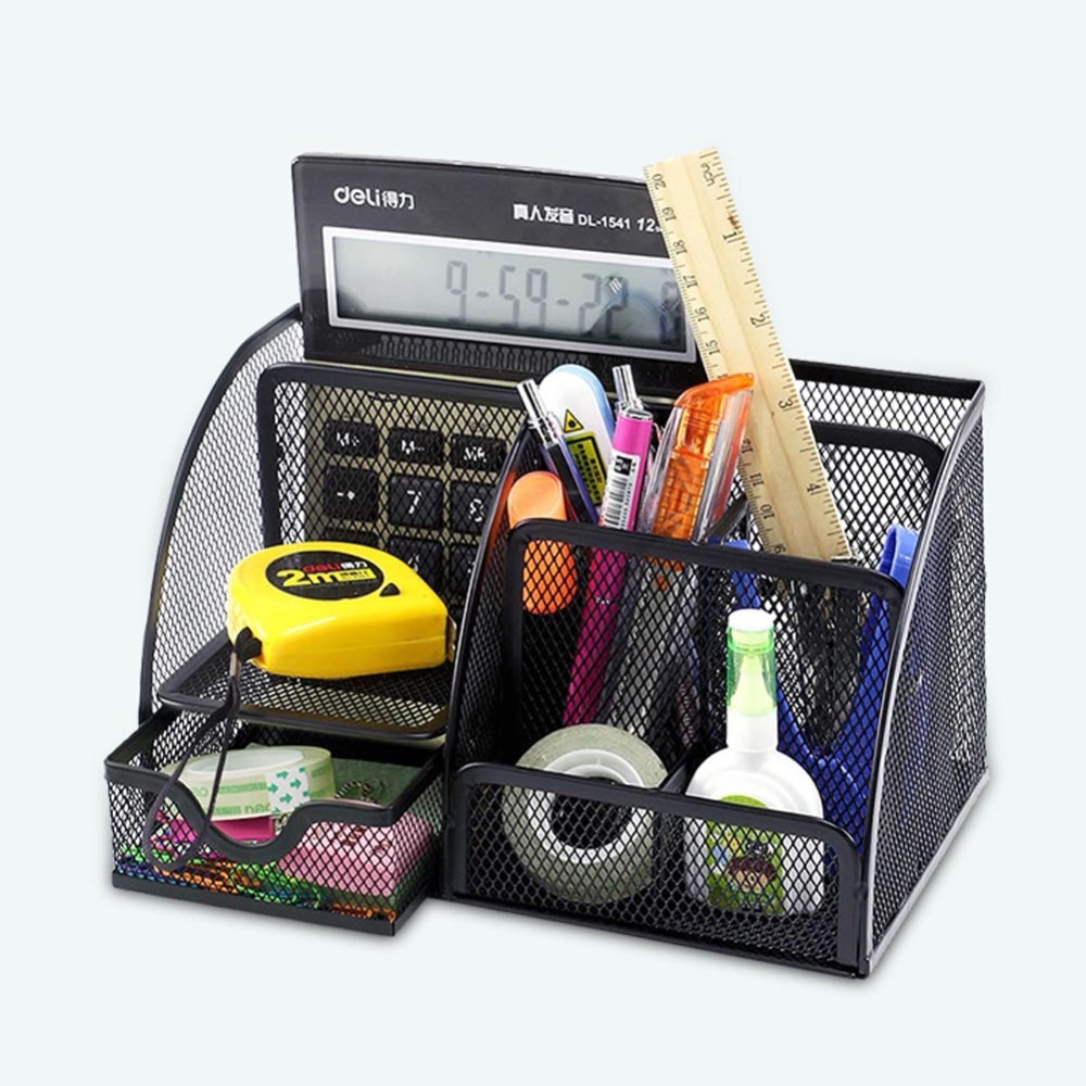 Desk Organizer Office Stationery Container 6