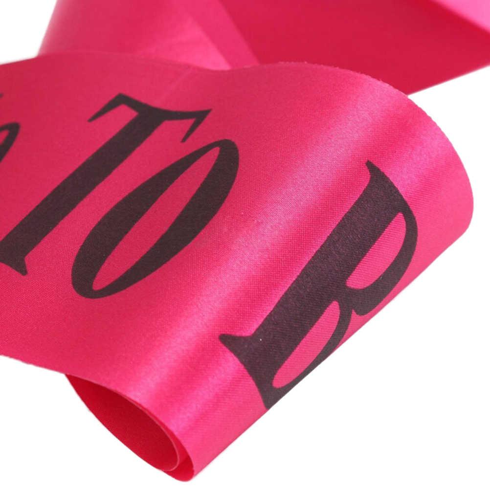Braut Zu Sein Satin Schriftzug Schärpe Süße Hochzeit Gefälligkeiten Dekoration Braut Sets Für Bachelorette Party Hen Party Fit Frauen Kleid