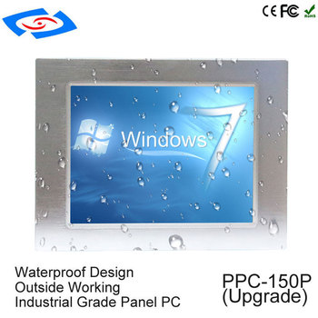 "High Quality 15"" Industrial Panel PC With Win7/Linux/Win8/Win10 System Resolution 1024x768 For ATM & Advertising Machines"