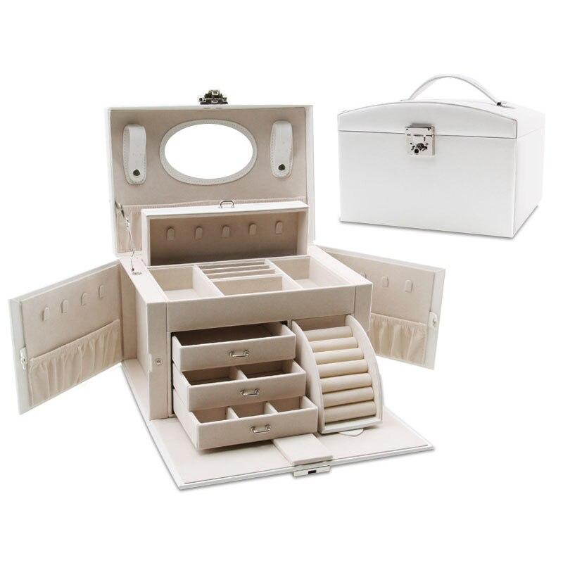 Ms Large Capacity Cosmetics Storage Box Travel Portable Storage Box Cosmetic Tools Beauty Nail Fashion Makeup