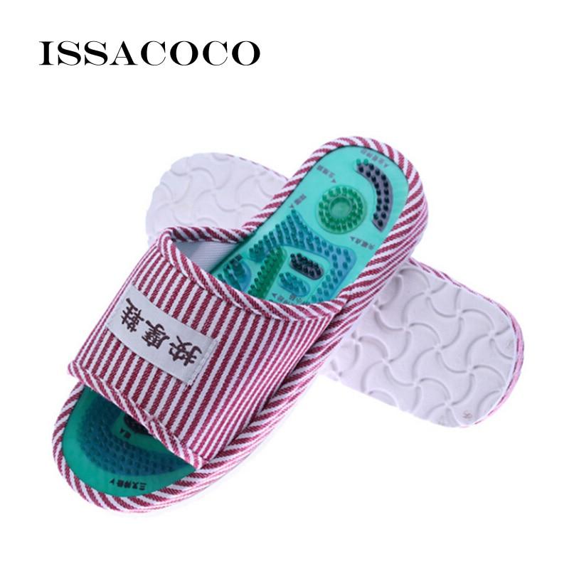 ISSACOCO 2018 Sepatu Pria Sandal Sandal Acupoint Pijat Kaki Rumah - Sepatu Pria - Foto 5