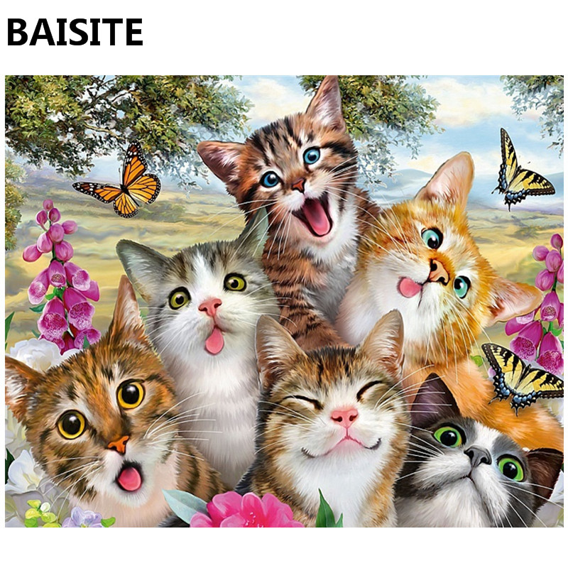 BAISITE Oil Painting By Numbers On Canvas Pictures Wall Art