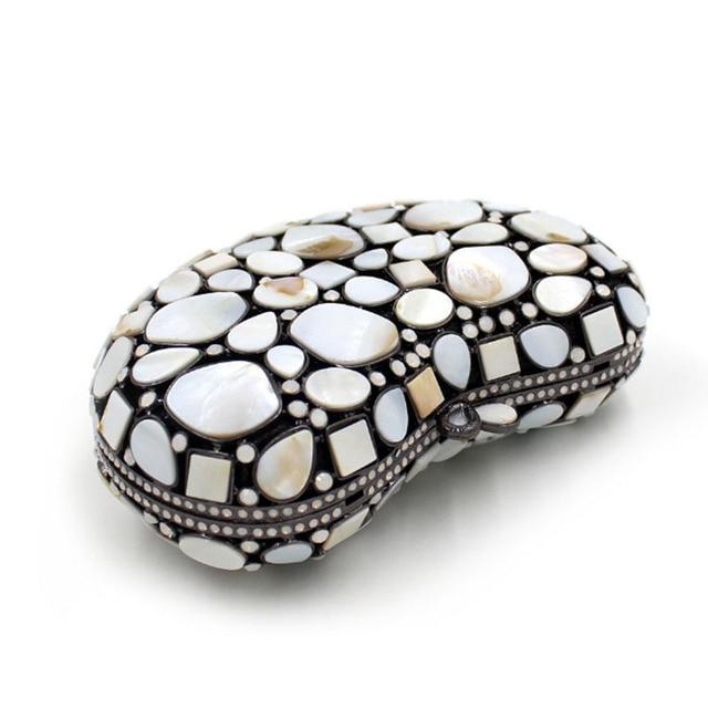XIYUAN BRAND Fashion Crystal Clutch Bag Gemstone High Quality Lady Party Evening Handbag Women Mini Shoulder Purses With Chain