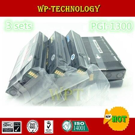 12PK Uyumlu mürekkep kartuşları için uygun PGI1300 K C M Y  PGI-1300 için uygun Canon MAXIFY MB2030 MB2330