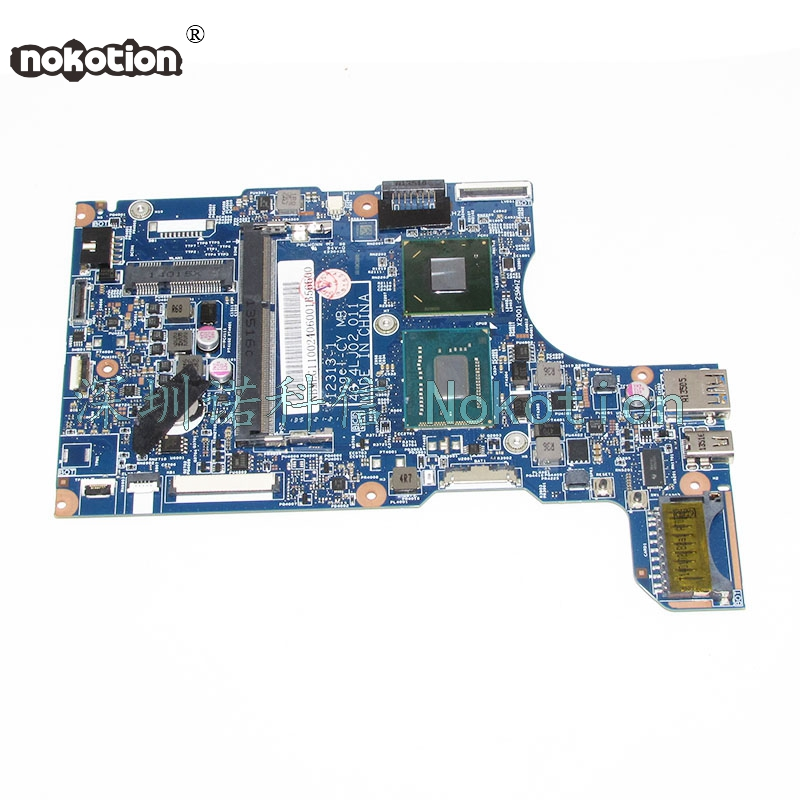 NOKOTION for Acer Aspire V5-132P  11.6 Laptop Motherboard 2GB Celeron 1019Y NBMEG1102 48.4LJ02.011 Mainboard nokotion laptop motherboard for acer aspire 5551 nv53 mbbl002001 mb bl002 001 mainboard tarjeta madre la 5912p mother board