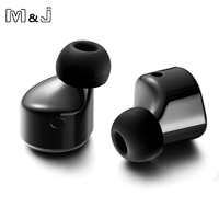 M J T1 Twins 2 Pcs Wireless Bluetooth Earphone Mini Invisible Cordless Bluetooth CSR 4 2