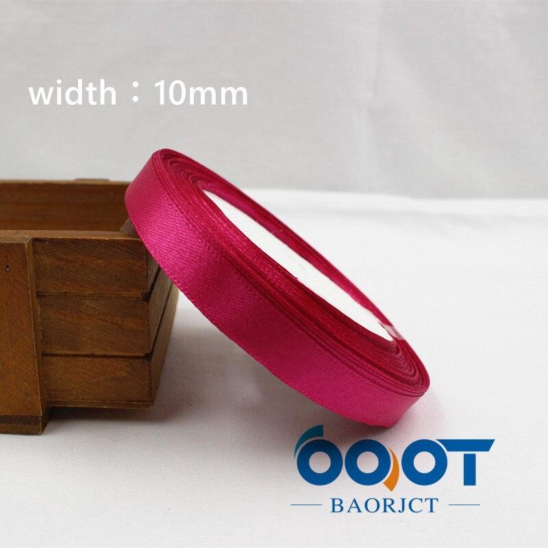 A-166910, 10 мм 31 цвет на выбор 25 ярдов шелковая атласная лента, свадебные декоративные ленты, подарочная упаковка, материалы ручной работы - Цвет: 027