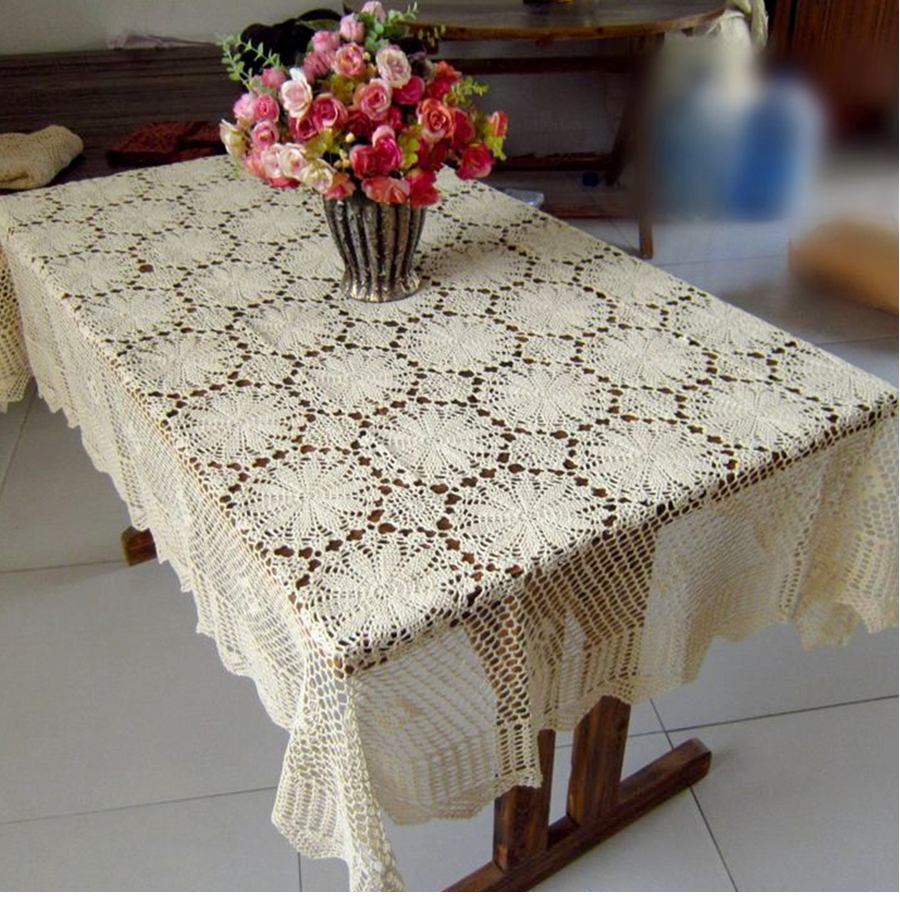 IBANO algodón mantel hecho a mano de ganchillo mantel encaje flor ...