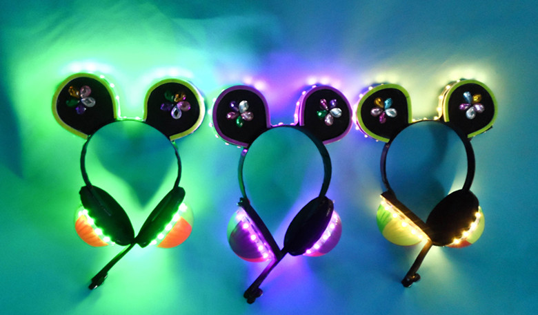 Love Live Video Game Awakening All Members LED Shiner Headset Earphone Halloween Cosplay Stage Property Free Shipping.