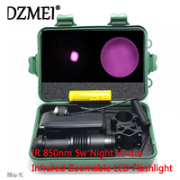 IR Zoomable Flashlight 1 Mode Night Vision Infrared Torch Light Portable Lamp Lanterna For Hunting Pressure