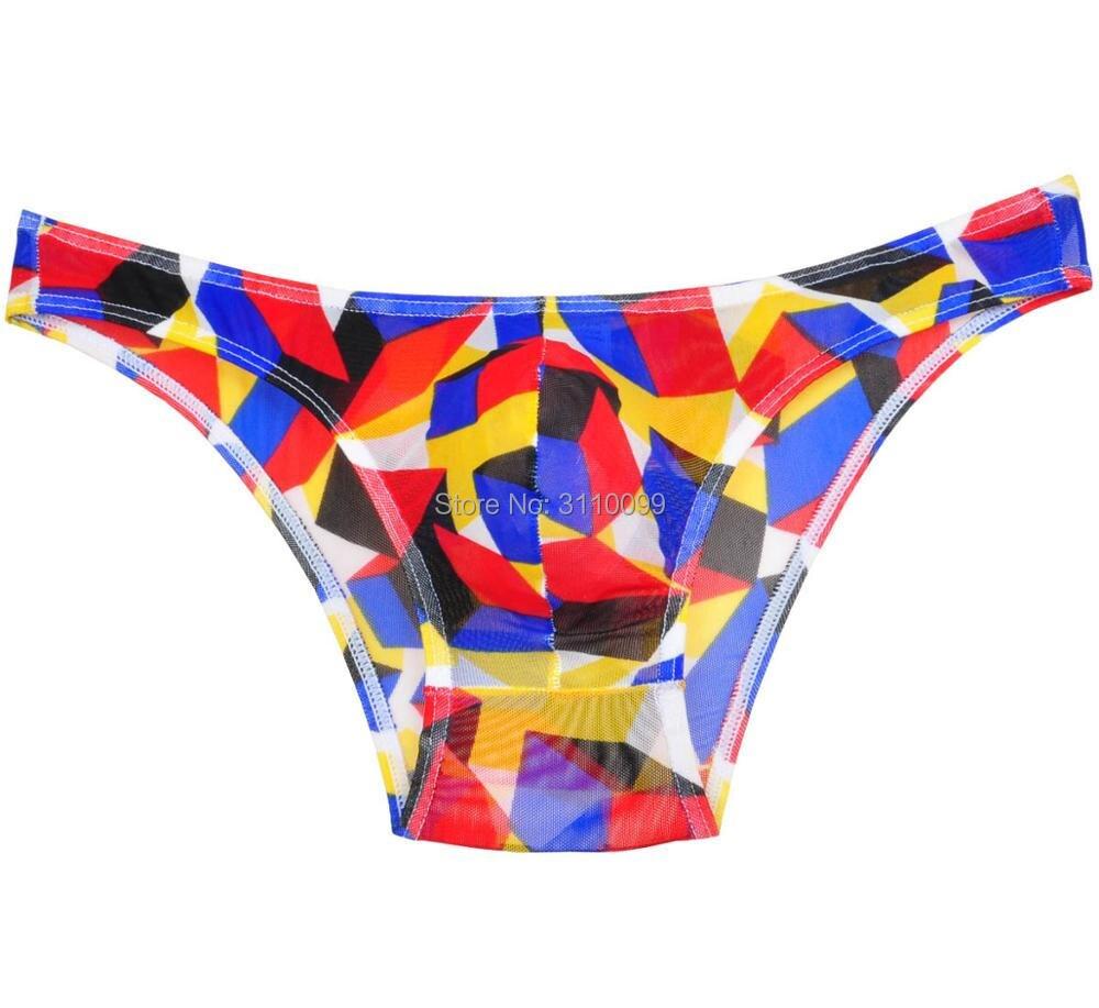 dfe8534f74c1 Sexy See Through Protruding Pouch Bikini Men's Underwear Briefs Undershorts Male  Underpants Men Brief Fashion Calzoncillos-in Briefs from Underwear ...