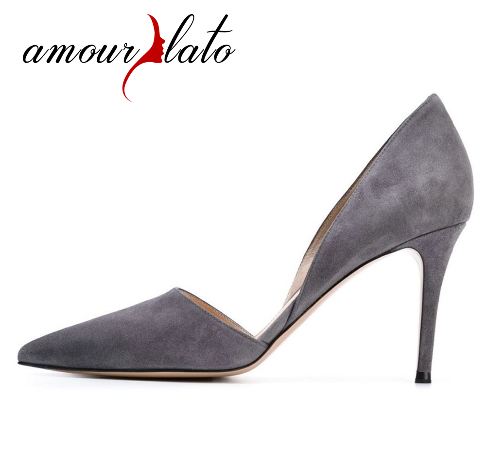 Amourplato Women's 80mm  Pointed Toe Cut Out Pumps Stilletos Heel Slip On d'Orsay Dress Shoes Fashion Style Lady Footwear fashion color patchwork pu leather strange heel shoes sexy peep toe cut out heel slip on pumps trend party date shoes