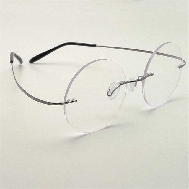 191635f640e1 10Pcs/Lot New Steve Jobs Star Style Ultra-light Memory Titanium Rimless  Spectacle Myopia Optical Glasses Frame Men Eyewear