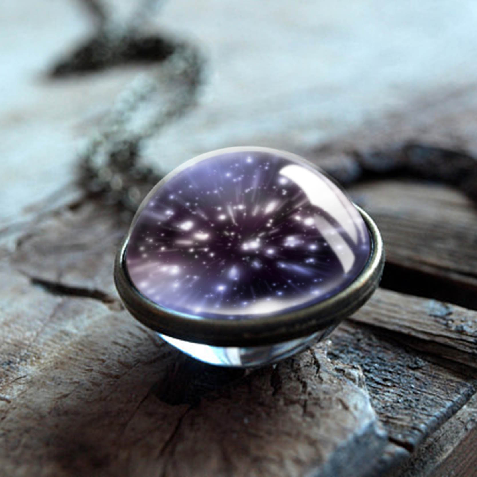 Pendant,Necklace For Women,Double Sided Pendant,Galaxy shape Necklace,Jewelry