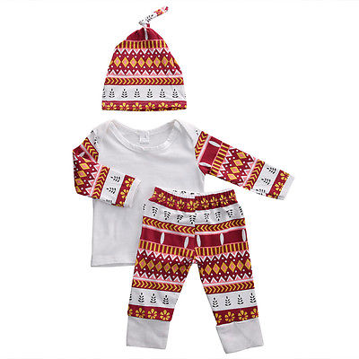 New Autumn Spring Baby Clothing Newborn Infant Baby Girl Clothes T-shirt Tops+Pants Leggings 3PCS Outfit Set