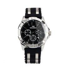 BELLMERS new men watches top brand luxury silicone strap male watch luminous men's waterproof quartz calendar watch