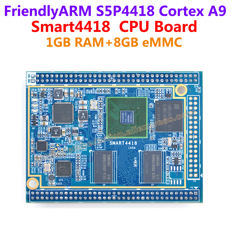 цена на Quad core Cortex A9 S5P4418 CPU Board FriendlyARM Smart4418,400MHz~1.4GHz,1GB RAM,8GB eMMC,for various industrial applications