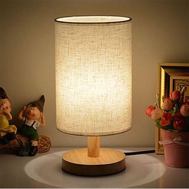 Moderne Holztisch Lampe Licht Für Schlafzimmer AC 110 V/220 V  Schreibtischlampe Für Wohnzimmer