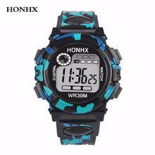 61732327b7ce HONHX 2018 moda niños niño niña reloj multifunción impermeable deportes LED  relojes electrónicos niños reloj digital