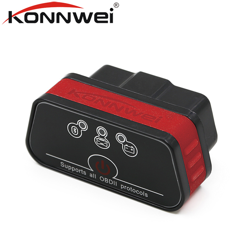 KONNWEI Pic18f25k80 KW901 ELM327 Bluetooth Obd2 v1.5 Scanner Auto Diagnostica Strumento di Scansione Lettore di Codice OBD2 Automotive Strumento di Auto Obd2