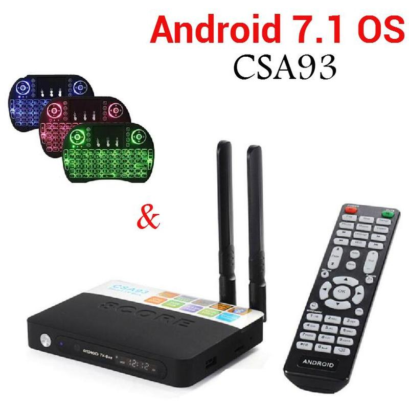 Android 7.1 TV Box CSA93 Amlogic S912 Octa Core 2GB/16GB 3GB/32GB CSA93 Smart TV BOX Streaming Dual Wifi BT4.0 4K Media Player