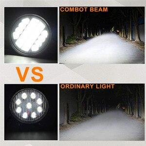 Image 3 - OKEEN 4 אינץ 120W LED עבודה אור בר קומבו Offroad LED 4x4 ערפל אור עם מלאך עיניים צהוב לבן נהיגה אור מנורה עבור משאית