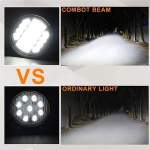 Image 3 - OKEEN Barra de luz LED de obra de 4 pulgadas y 120W, Combo de luces antiniebla 4x4 con ojos de Ángel, luz de conducción amarilla y blanca para camión
