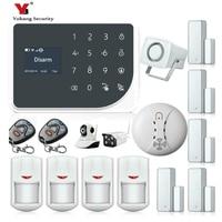 YoBang Security WIFI GSM Home Security Alarm System Alarm Wireless Outdoor Indoor IP Camera Smoke Fire Sensor Detector