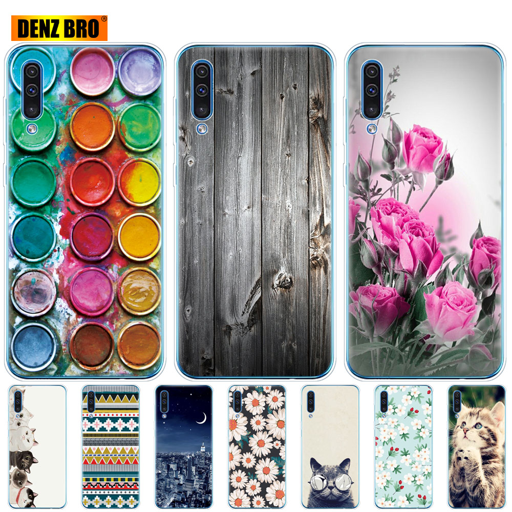 3dcc330471 For Samsung Galaxy A50 Case Silicone Transparent Back Cover Phone Case For Samsung  A50 A505 A505F SM-A505F Soft Case 6.4