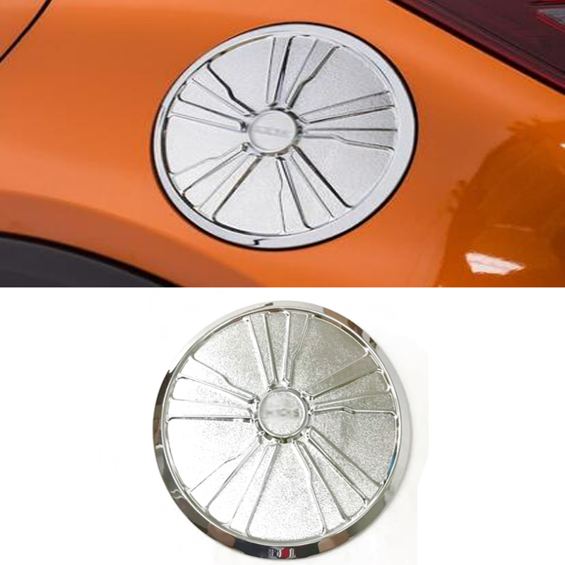 Car Accessories ABS Chromed Fuel Tank Cap Cover Trim Molding for Nissan Kicks 2017 Auto Styling
