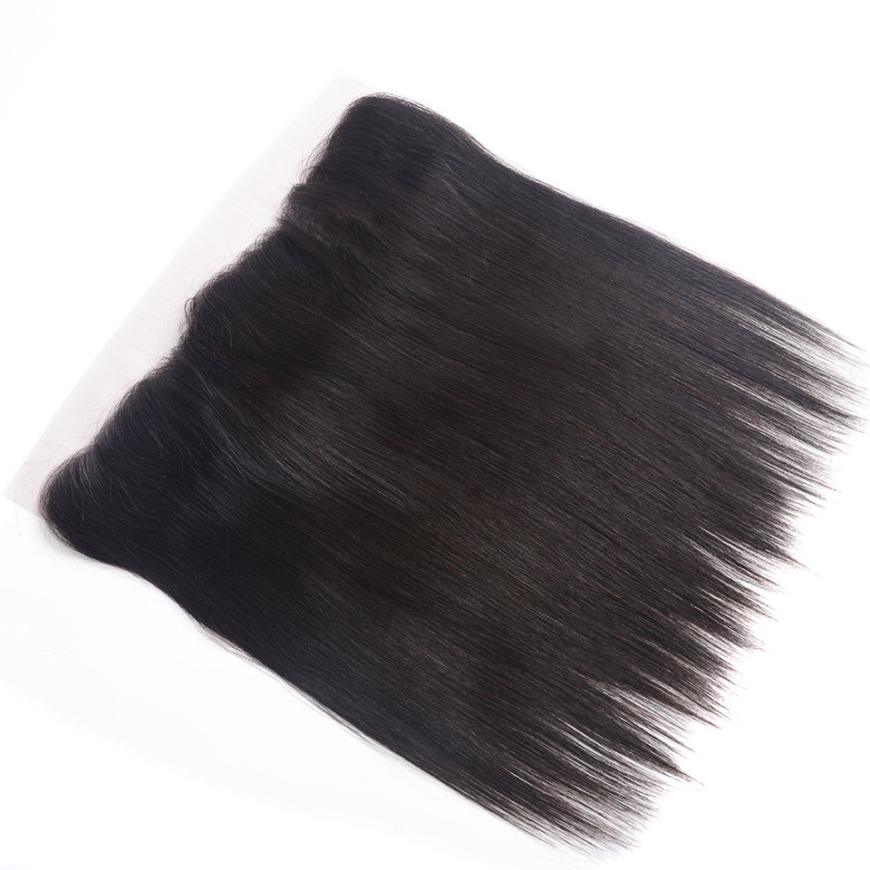 Indian Straight Hair Bundles With Frontal Natural Color Human Hair 18Inches Lace Frontal With Straight Bundles 22 24 26 Bybrana (2)