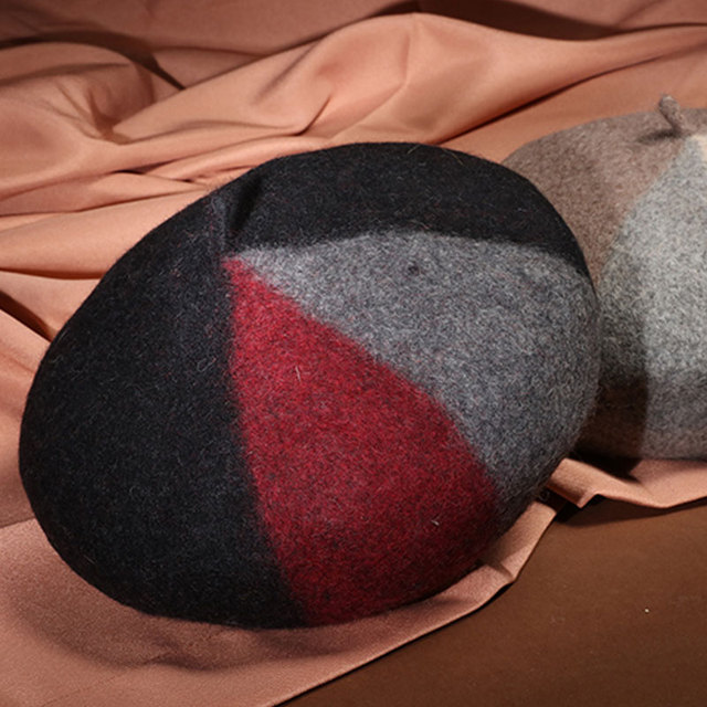 Beret Women Winter Red...