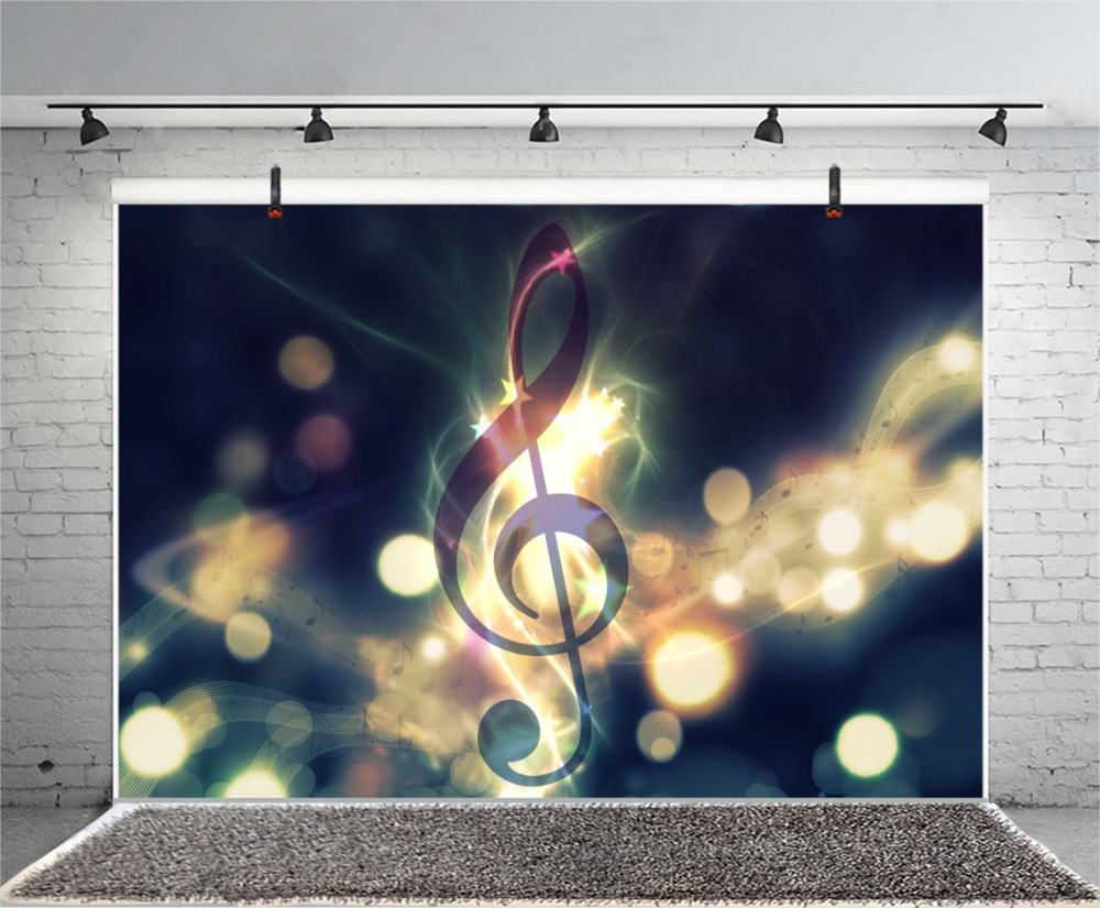Laeacco Light Bokeh Musical Note Show Poster Baby Photography Backgrounds Customized Photographic Backdrop For Photo Studio in Background from Consumer Electronics